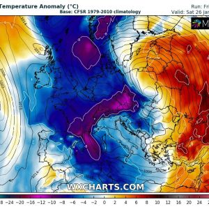A very deep trough with intense cyclone will bring significant winter and also severe weather into south-central Europe next week, Jan 21-26th