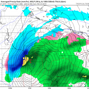 An intense winter storm will cross the central Plains and Midwest this weekend, Feb 23-24th