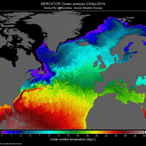 Gulf stream mixing and global anomalies