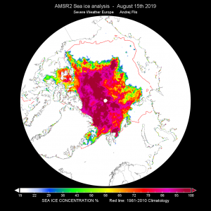 Record low July Arctic sea ice extent. Possible implications for winter?