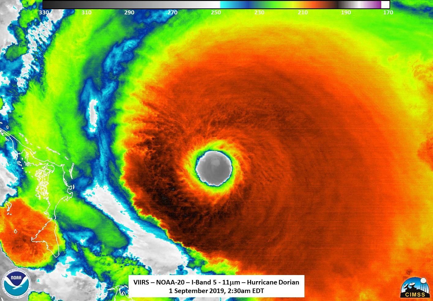 Dorian is now a CAT 5 hurricane – extreme destruction across