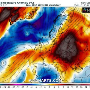 Very warm weather intensifies across east-central Europe, locally close to 30 °C is possible, Oct 21-26th