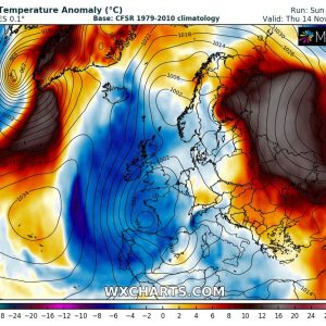 A powerful blocking ridge with an intense 'heatwave' develops over eastern Europe this week