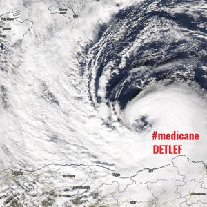 An impressive medicane #DETLEF in the western Mediterranean, making landfall in northern Algeria, Nov 11th