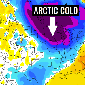 A new *intense Arctic cold outbreak* develops over the north-northeast United States through the next few days, Dec 8-12th