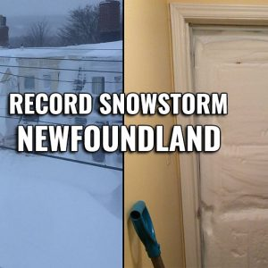 The 'bomb cyclone' over the Northwest Atlantic brought the most powerful snowstorm on record across Newfoundland, Jan 17th