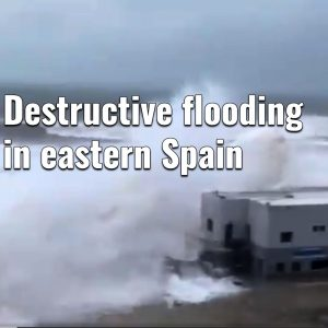 Cyclone #Gloria causes destructive flooding by extreme rainfall and major storm surge across the eastern Spain