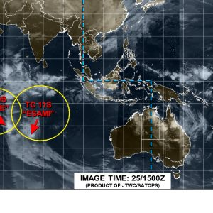 Again, there are now three (3) tropical cyclone ongoing in the tropics – two over the South Indian Ocean and one over the South Pacific