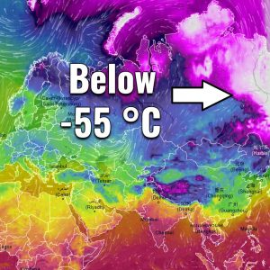 *BRUTAL* cold in Yakutia, Russia in the past days – several stations reported 55-57 °C below zero!