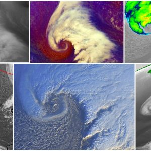 North Atlantic today – a small but very photogenic cyclone delivers a spectacular satellite show