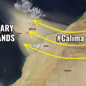 A severe #Calima winds fuel fires and delivers a massive dust storm into the Canary Islands from the Morrocan desert