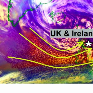 North Atlantic *UPDATE* on the major 45-50 ft waves spreading towards Scotland and Ireland this evening and tonight
