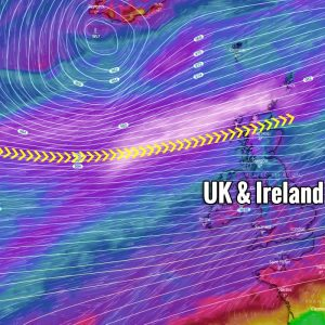 A new rapidly intensifying North Atlantic storm on the way – delivering a powerful windstorm to UK and Ireland this weekend
