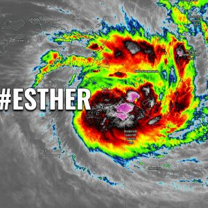 Tropical Cyclone #Esther is making landfall as a Category 1 system on the Mornington Island, Queensland, Australia this morning