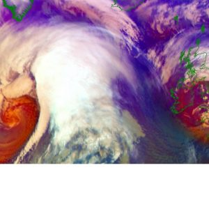North Atlantic *update* – Impressive satellite presentation of twin cyclones