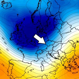 Temporal pattern change over Europe delivers colder weather and locally snow this week