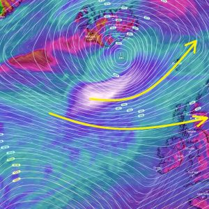 No break for the North Atlantic: A new rapidly intensifying cyclone tonight – it will push another severe windstorm towards Europe