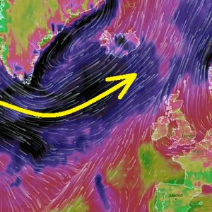 A rapidly intensifying extratropical cyclone in the North Atlantic this weekend – broad severe winds towards WNW Europe