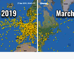 #COVID-19 *update*: Significant decline in global air traffic continues – the number of flights at the end of March is more than 60% lower than normal