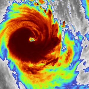 A rapidly strengthening Tropical Cyclone #IRONDRO in the South Indian Ocean