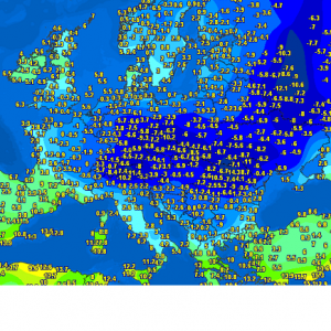 Extreme cold and destructive frost with close to -10 °C across parts of Europe this morning, April 1st