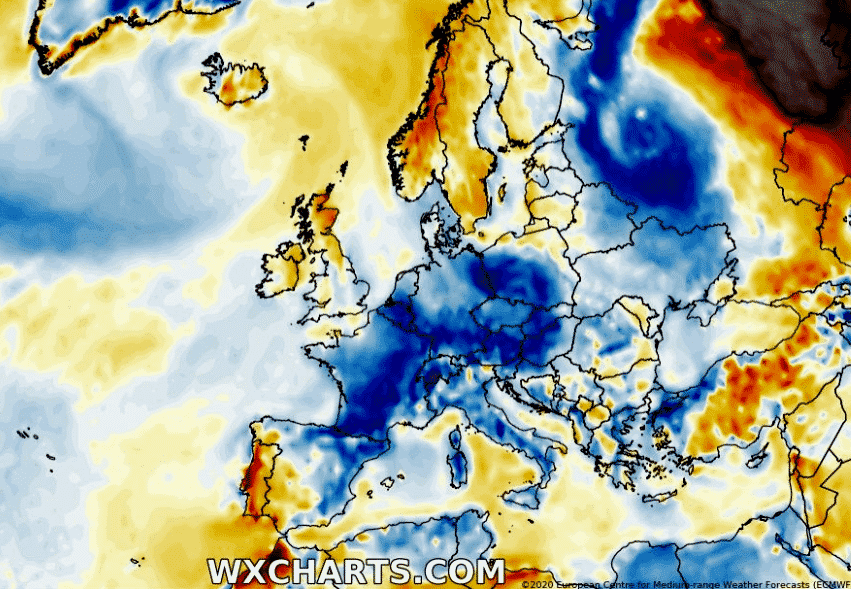 Cold weather pattern over Europe through mid-July