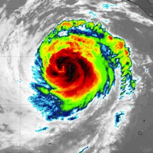 Hurricane Elida is grazing across the Eastern Pacific – should stay away from any land areas