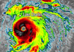 hurricane laura infrared satellite image