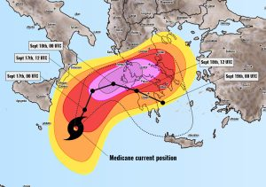 Severe Weather Outlook Medicane Ianos