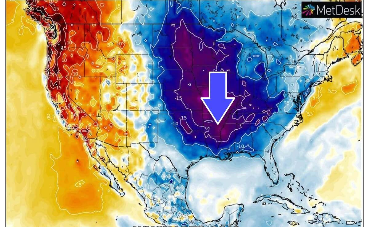 cold forecast usa