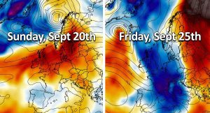 fall forecast europe pattern change