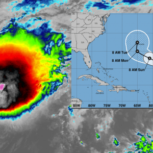 hurricane paulette infrared satellite track