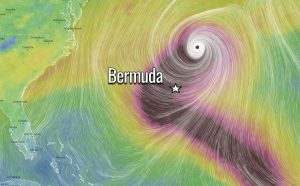 hurricane teddy wind bermuda