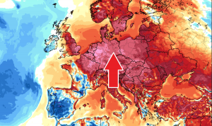indian summer europe warm advection
