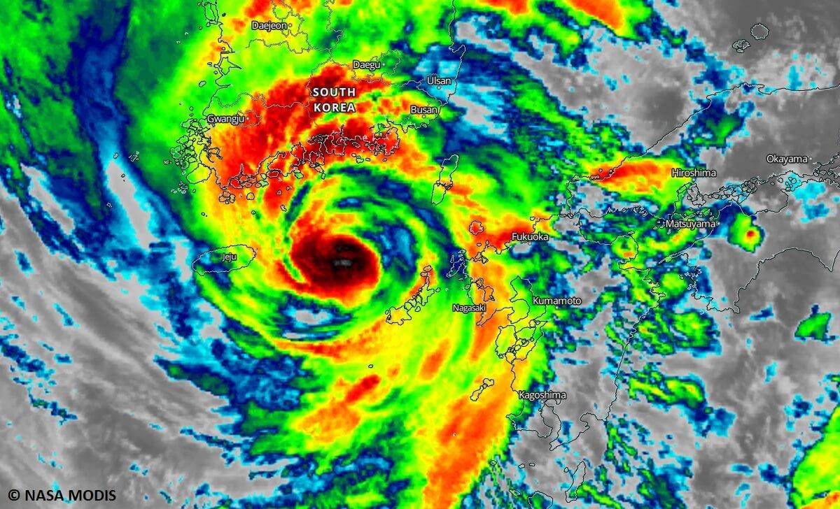 maysak landfall infrared satellite
