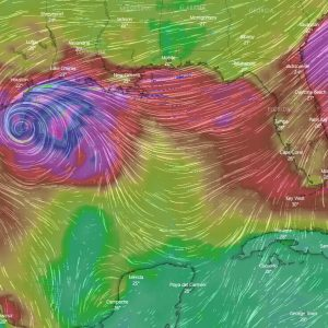 storm beta landfall texas