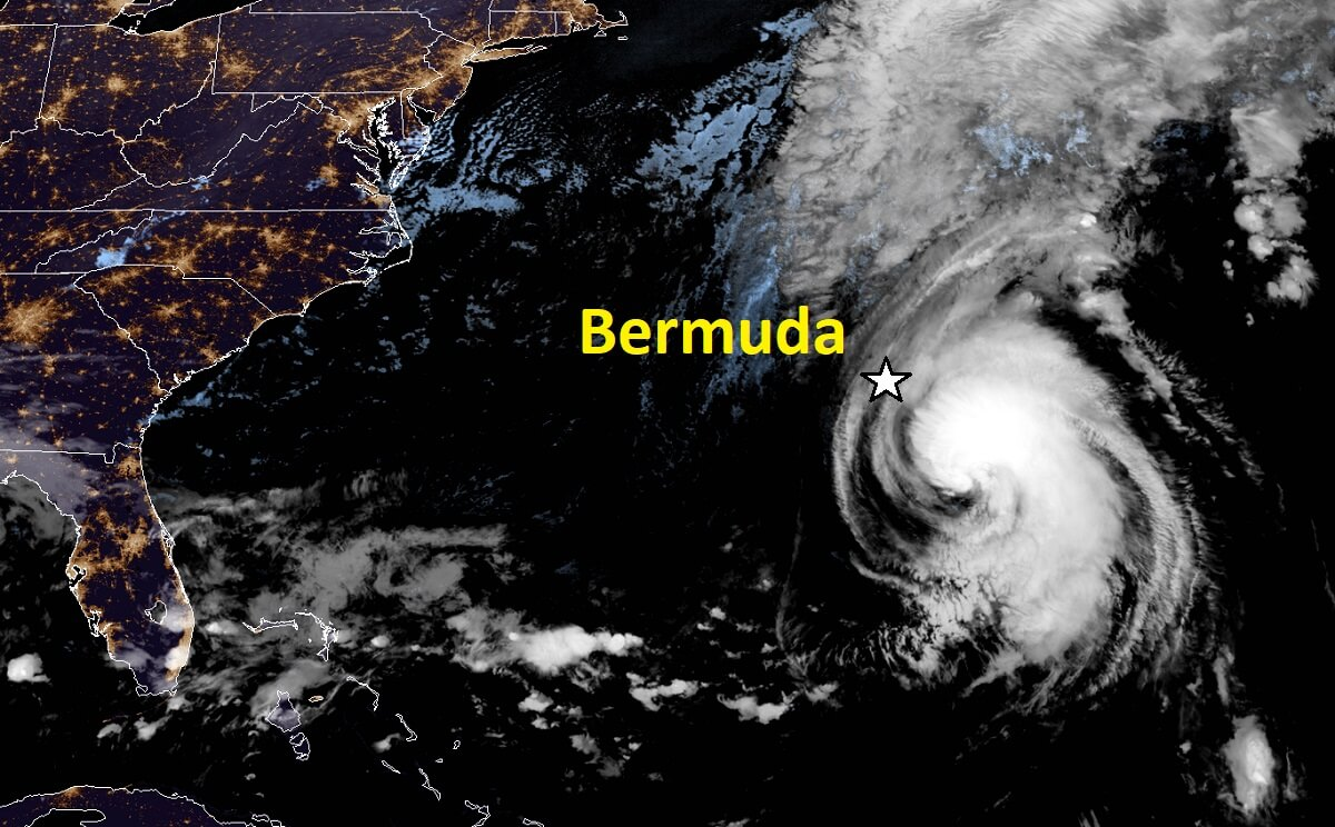 teddy canada landfall geocolor satellite bermuda