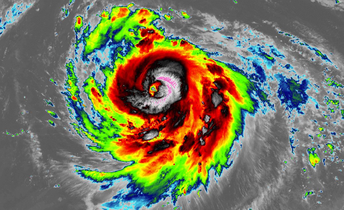 typhoon haishen satellite image