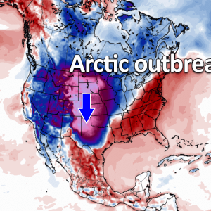 cold forecast arctic outbreak united states