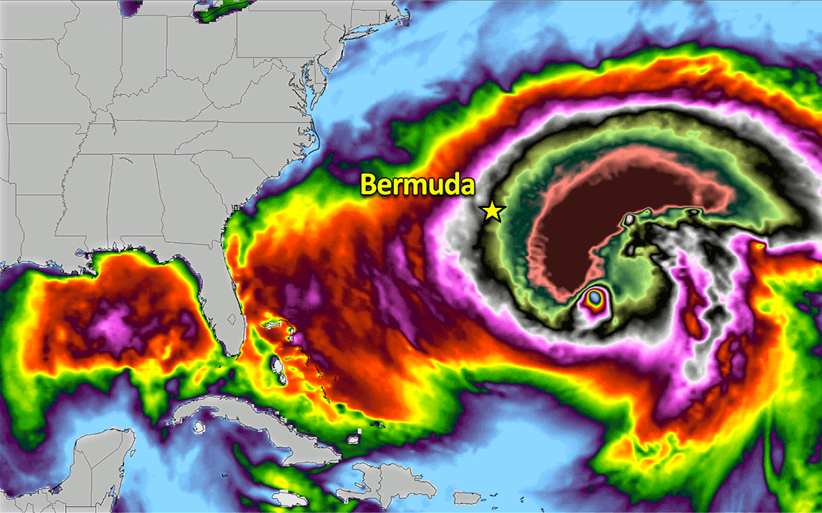 epsilon hurricane season bermuda wave forecast