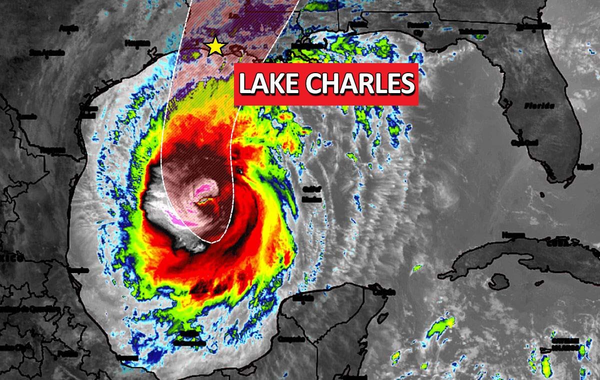hurricane delta track landfall louisiana lake charles