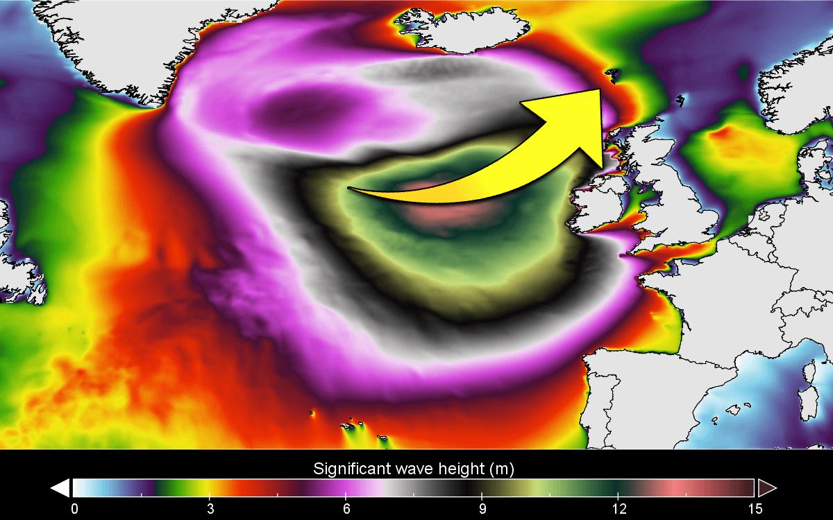 hurricane epsilon extratropical north atlantic