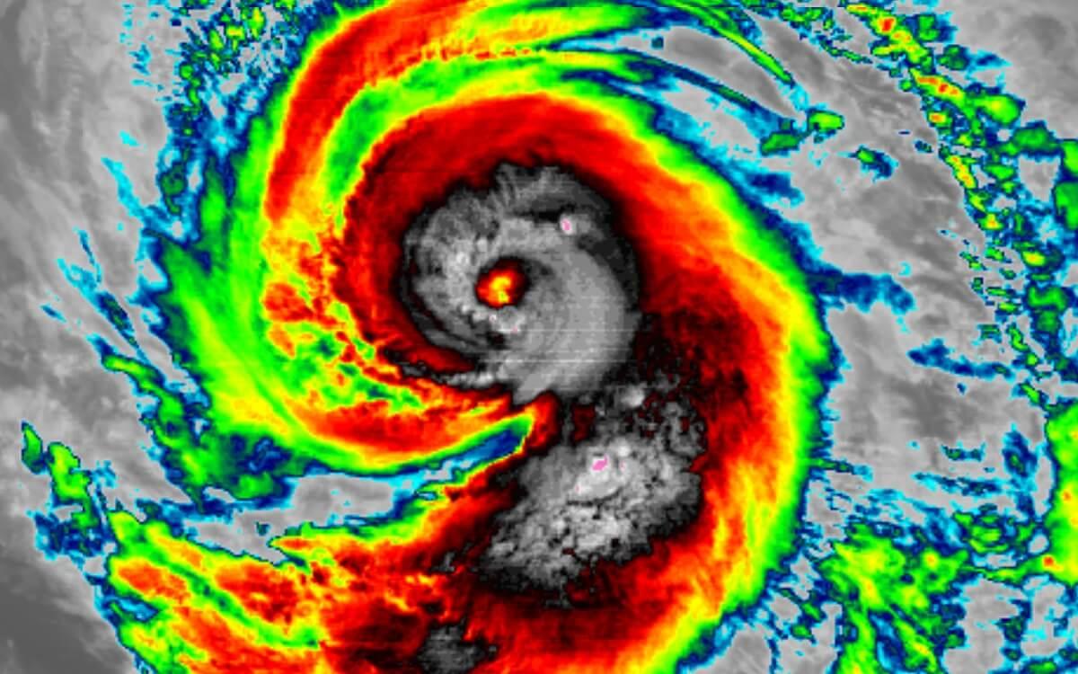 hurricane marie infrared satellite
