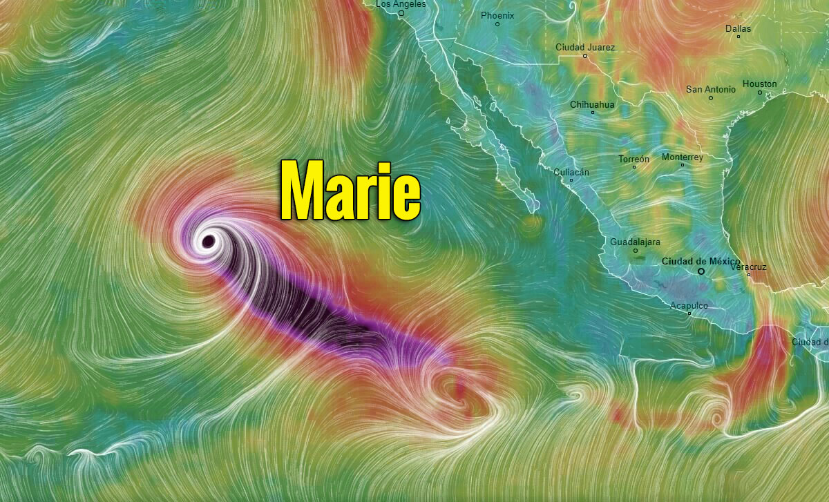 hurricane marie wind swath