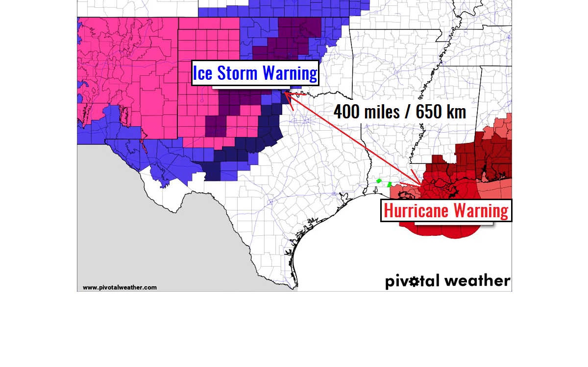 ice storm hurricane warnings