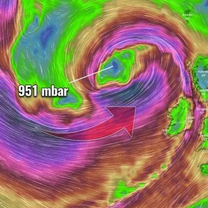 north atlantic cyclone windstorm uk