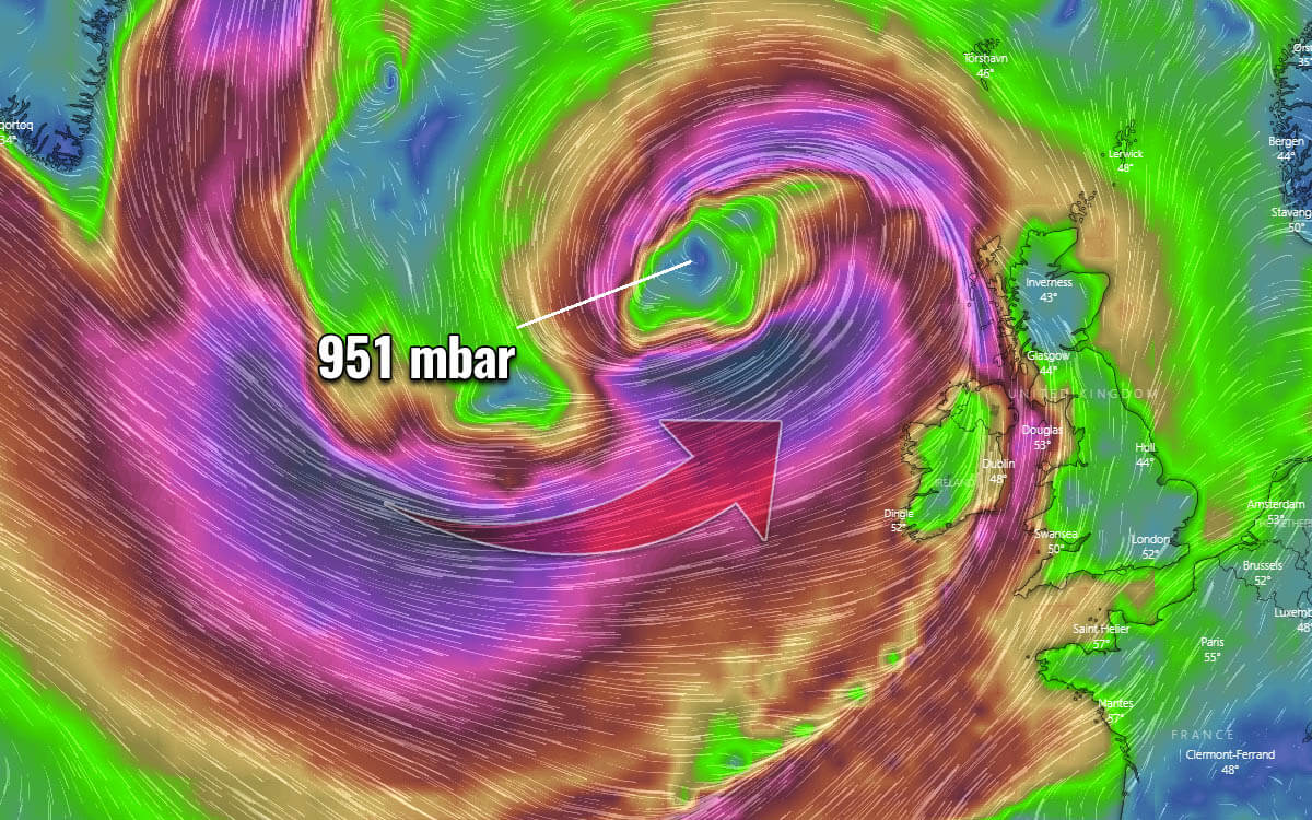north atlantic cyclone windstorm uk