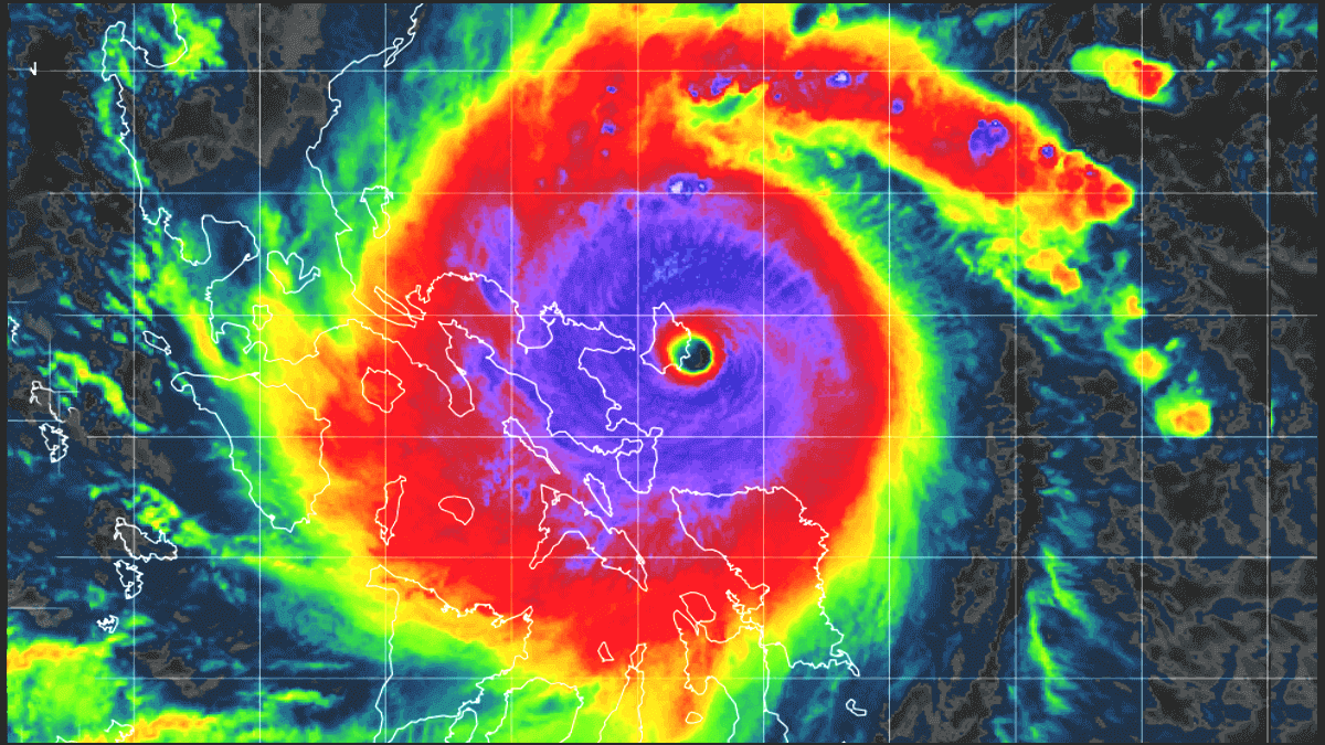 typhoon goni landfall satellite