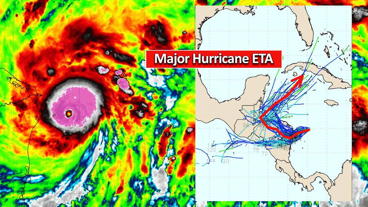 hurricane eta nicaragua flooding infrared