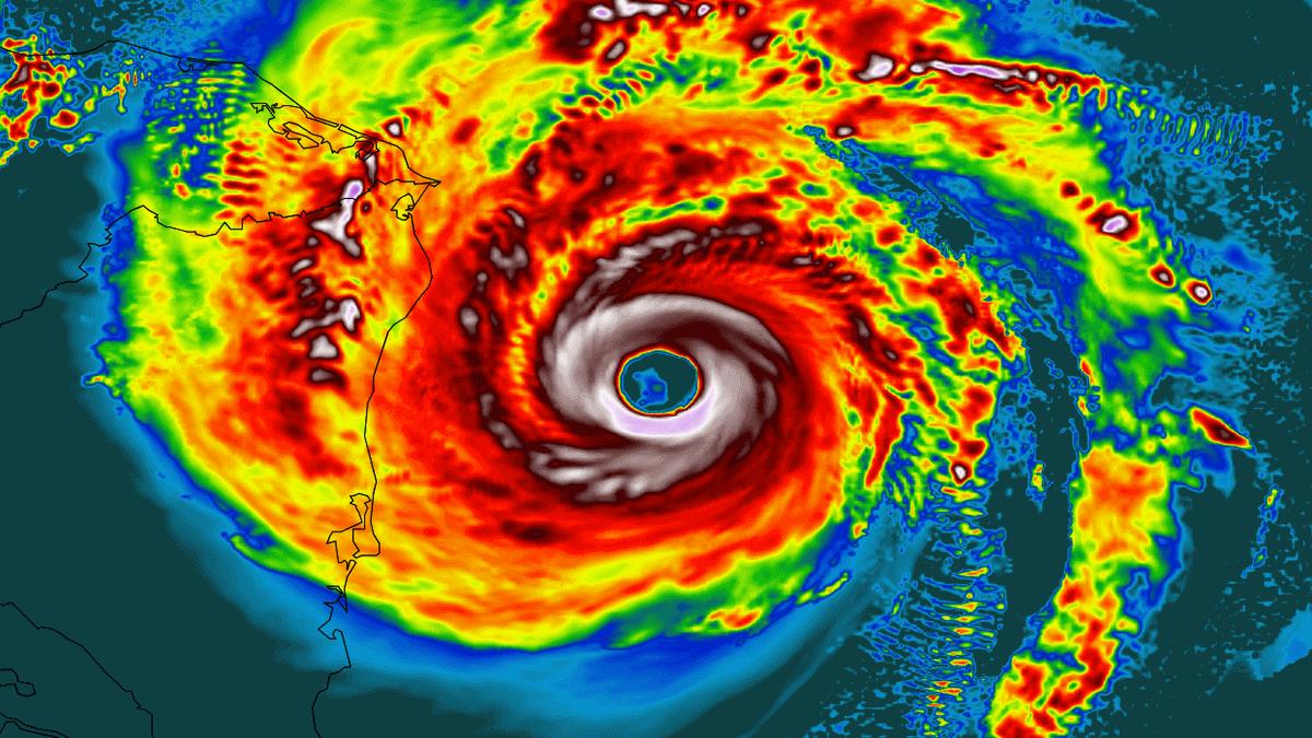 hurricane iota nicaragua landfall radar